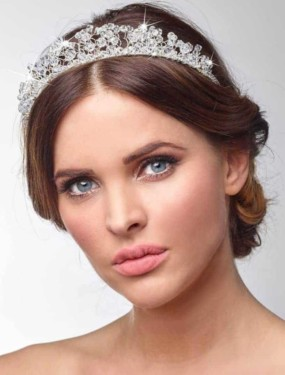 Tiara BB-619 met kristallen van Poirier | Honeymoonshop