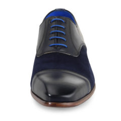 Jarno Dark Blue Calf Leather-Suede 3