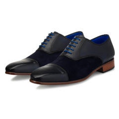 Jarno Dark Blue Calf Leather-Suede 6