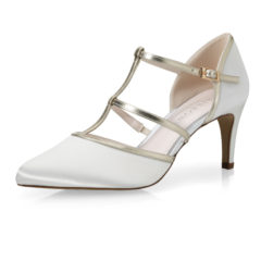 Lindy Ivory Satin-Gold 1