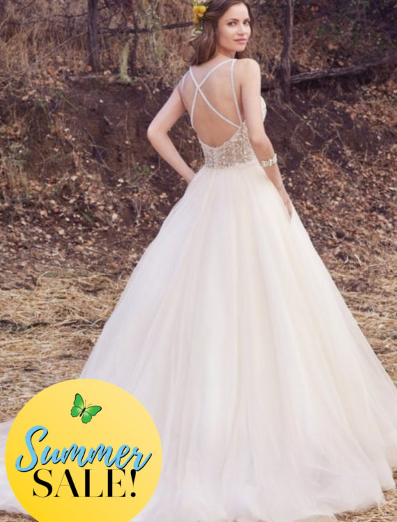 Trouwjurk Maggie Sottero Honeymoon shop Summer Sale