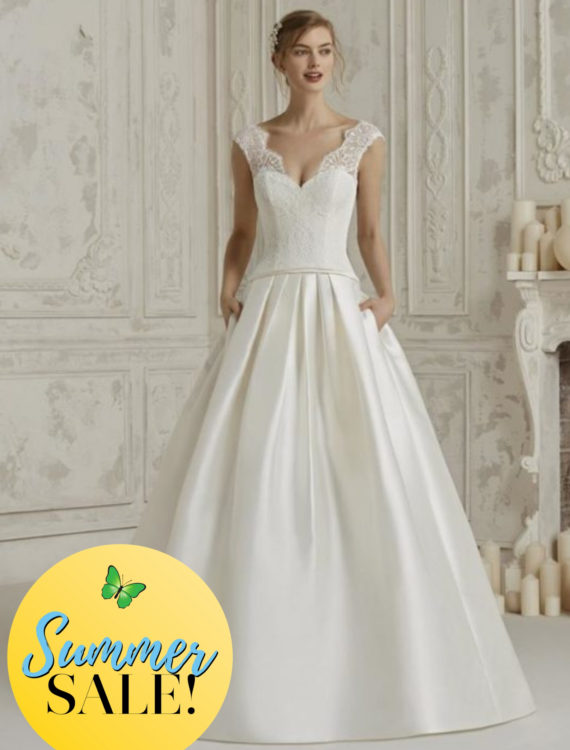 Honeymoon shop Summer Sale trouwjurk Pronovias